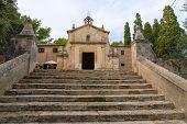 image of calvary  - Majorca esglesia del Calvari church in Pollenca Pollensa at Mallorca spain - JPG
