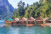 foto of raft  - Floating residence raft in Khao Sok National Park - JPG