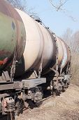 foto of fuel tanker  - Tanks with fuel being transported by rail  - JPG