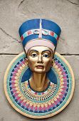foto of isis  - The head statue of Egyptian Pharaoh Tutankhamun - JPG