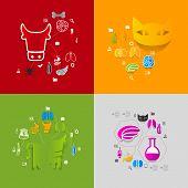 stock photo of veterinary  - Veterinary colorful sticker infographics - JPG