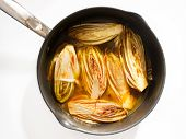 picture of chicory  - Side dish with fried chicory in sweet orange sauce perfect for fish and white meat - JPG