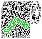stock photo of recycled paper  - Save paper - JPG