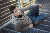 stock photo of smart grid  - Handsome young man - JPG
