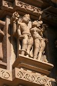 stock photo of kamasutra  - Stone carved erotic sculptures on Chitragupta temple - JPG