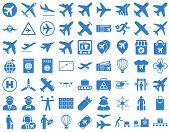 Постер, плакат: Aviation Icon Set