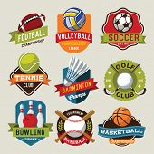Sport logotypes set. Sport design elements, logos, badges, labels, icons and objects  poster