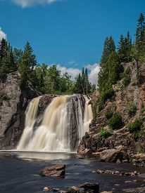 pic of baptism  - This is the High Falls of Baptism River at Tettegouche State Park in the Lake Superior North Shore area in Minnesota - JPG