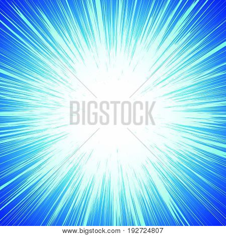 poster of Vivid Colorful Background With Starburst (sunburst)-like Motif. Abstract Radial Lines Fading Into Ba
