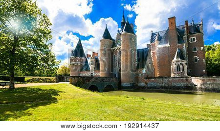 Romantic medieval castles of Loire
