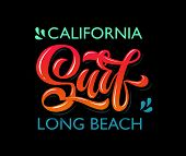 Vector Illustration Of Surf Text For Clothes Design. Surf Badge/tag/icon.surf Card/banner. poster