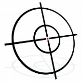 Target Symbol Isolated On White. Accuracy, Target, Aiming Concept Icon. poster