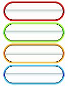 Button Or Banner Elements. Colorful Label, Tag For Your Messages. Abstract Rectangular Button Shape, poster