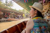 Tourist On Asia Travel Looking At Thai Landscape poster