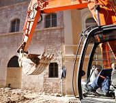 stock photo of heavy equipment  - Large earth moving heavy equipment - JPG