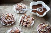 Mini pavlova with hazelnut cream and chocolate poster