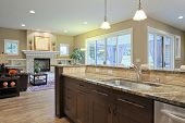 Luxury kitchen with granite countertops