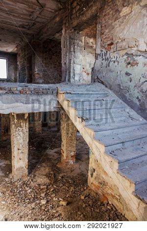 Mystical Interior Ruins Of An