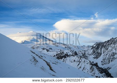 Elbrus Mountain Ridge Landscape In