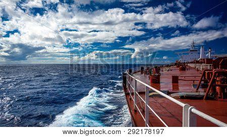 Crude Oil Super Tanker Proceeding