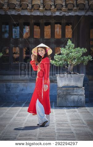 Beautiful Girl With Vietnam Culture
