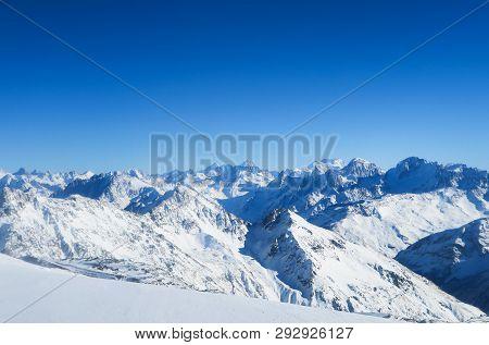 Mountain Range Of Caucasian Mountains