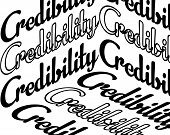 Credibility Inscription. Inspirational Quote, Motivation. Typography For T Shirt, Invitation, Greeti poster