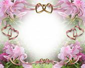 Постер, плакат: Приглашение на свадьбу розовые азалии 2