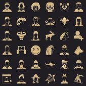 Private Icons Set. Simple Style Of 36 Private Icons For Web For Any Design poster