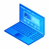 Modern Web Laptop Icon. Isometric Of Modern Web Laptop Icon For Web Design Isolated On White Backgro poster