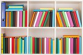 stock photo of book-shelf  - Full Bookcase library - JPG
