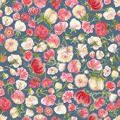 Aquarelle Flower Seamless Wallpaper, Blur Floral Background. Fuzzy Watercolor Botanical Illustration poster
