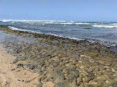 Wainiha Bay Park On Kauai, Hawaii.  Wainiha Bay In Kauai Is The Last Bay After The Town Of Hanalei A poster