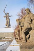 Monument To Russian Soldiers In Volgograd poster