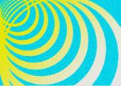 White-yellow Circles On A Blue Background - The Effect Of Impressionism. Abstract Background. poster