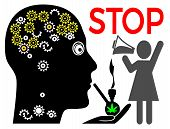 Cannabis And Marital Conflicts. Weed Smoking Husband With Brain Damage Is Facing Problems With Frust poster