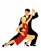 picture of bolero  - Abstract vector illustration of american latin dancers - JPG