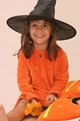 Pretty Girl In Witch Costume