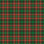 stock photo of kilt  - checks fabric red and green - JPG