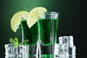 picture of absinthe  - Two glasses of absinthe - JPG