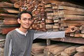 stock photo of masker  - the photograph owner of Lumber or timber industry - JPG