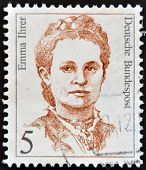 GERMANY - CIRCA 1989: A stamp printed in Germany shows Emma Ihrer trade unionist circa 1989
