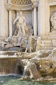 Rome, Italy. One Of The Most Famous Landmarks - Trevi Fountain, Detail (fontana Di Trevi). poster