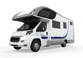 stock photo of recreational vehicles  - Camper Van isolated on white background - JPG