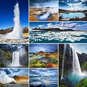 picture of breathtaking  - Collage of Iceland - JPG