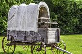 picture of stagecoach  - A side view of a stagecoach that was from the 1800s - JPG