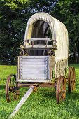 stock photo of stagecoach  - A front view of a stagecoach that was from the 1800s - JPG