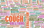 stock photo of cough  - Coughing Concept as a Common Cough Problem - JPG