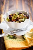 image of brussels sprouts  - roasted brussels sprouts with grapes - JPG