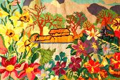 stock photo of gobelin  - This is photocopy of my hand made tapestry  - JPG